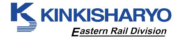 KINKISHARYO Eastern Rail Division logo